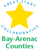 Bay Arenac Great Start Sticky Logo